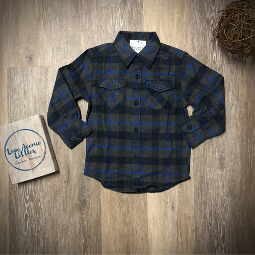 Grey/Blue Flannel Shirt