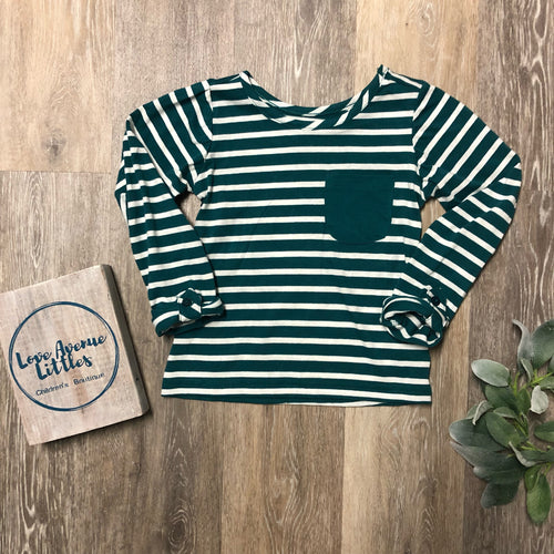 Green Striped Long Sleeve