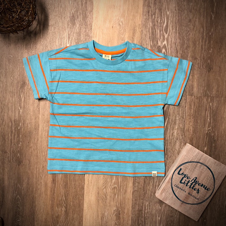 Turquoise Striped T-shirt