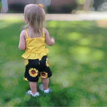 Load image into Gallery viewer, High Waisted Sunflower Shorts