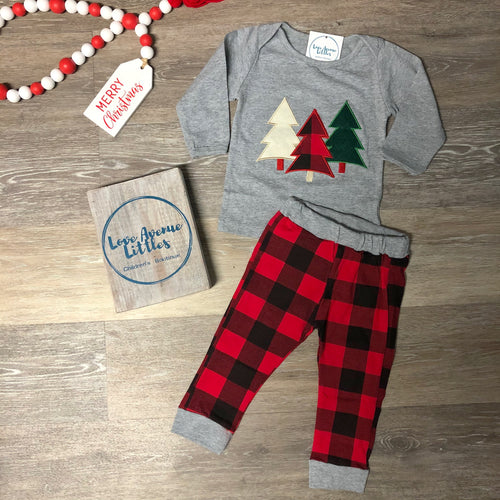 Buffalo Plaid Christmas Tree Set