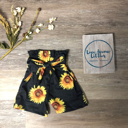 High Waisted Sunflower Shorts