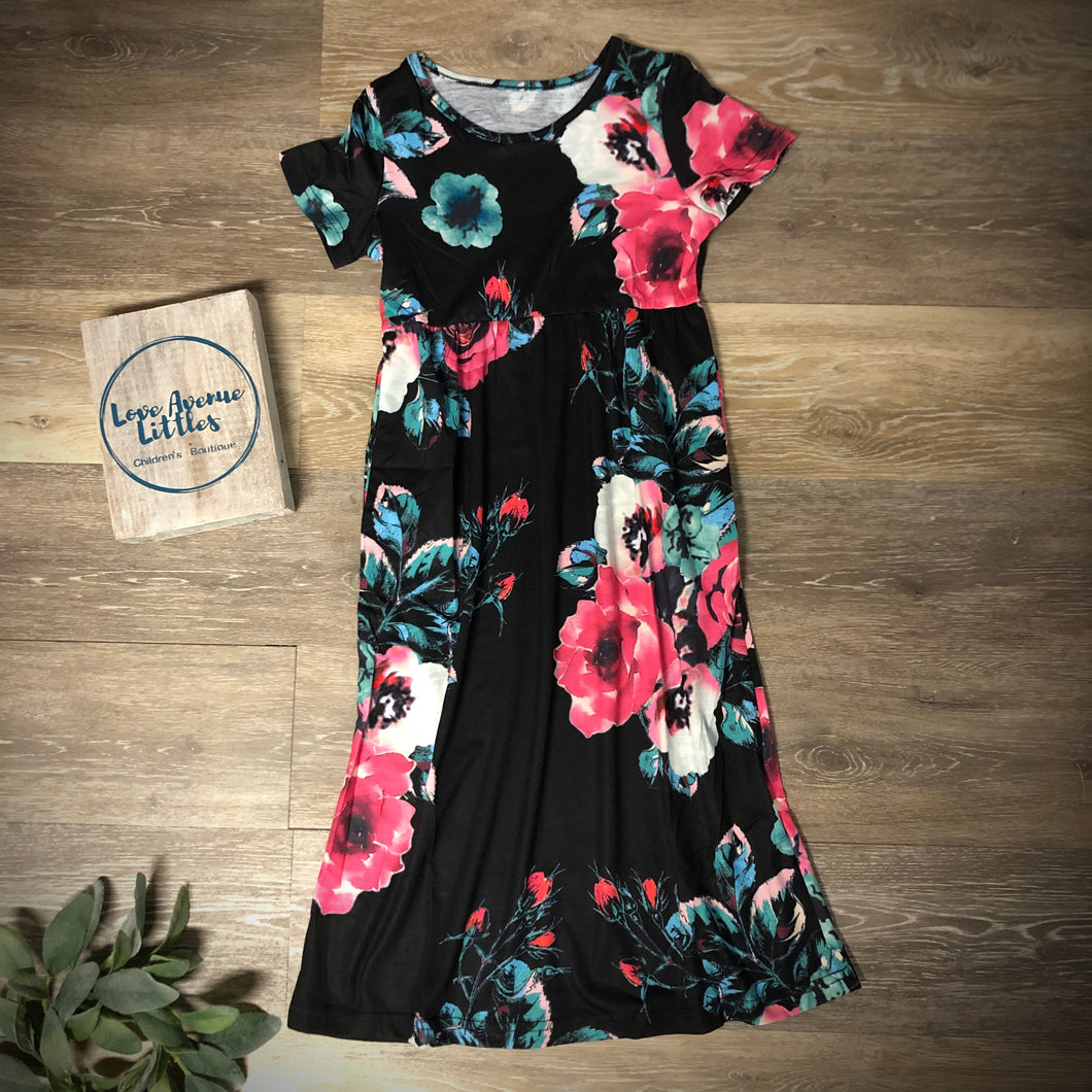 Black Floral Maxi Dress- Daughter