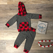 Load image into Gallery viewer, Buffalo Plaid Hoodie Set