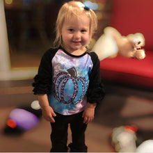 Load image into Gallery viewer, Cotton Candy Pumpkin Raglan Shirt