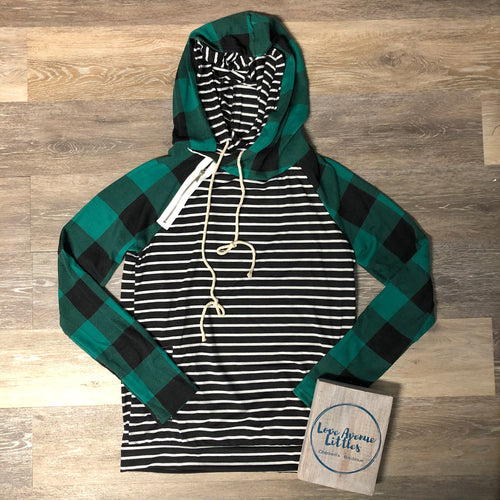 Lincoln Plaid Hoodie- Mommy