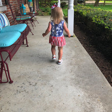 Load image into Gallery viewer, Stars and Stripes Peplum Set