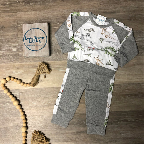Dinosaur Crew Neck Set