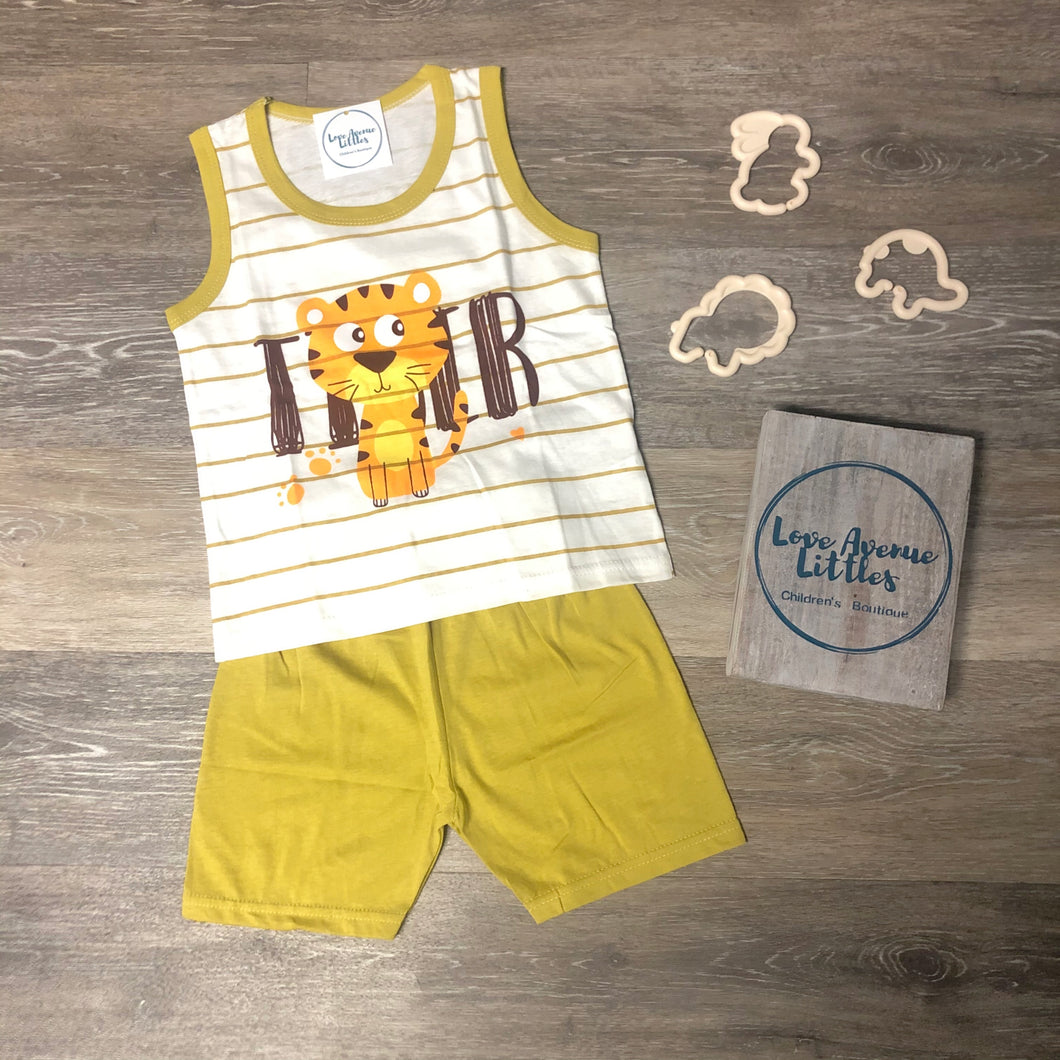 Tiger Tank Short Set