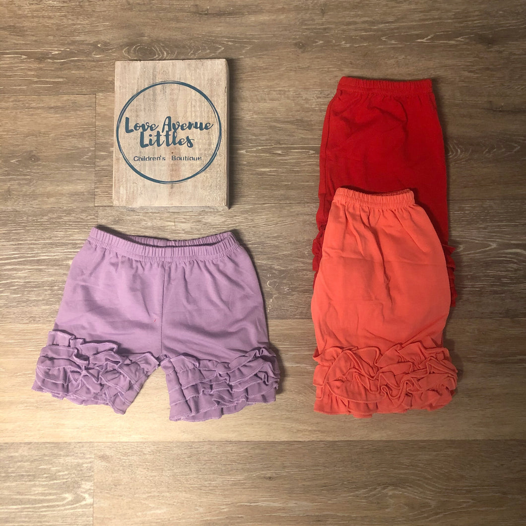 Triple Ruffle Shorts