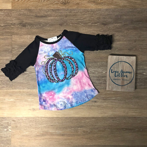Cotton Candy Pumpkin Raglan Shirt