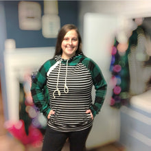 Load image into Gallery viewer, Lincoln Plaid Hoodie- Mommy