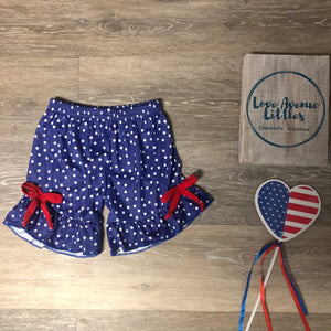Polka Dot Ruffle Shorts