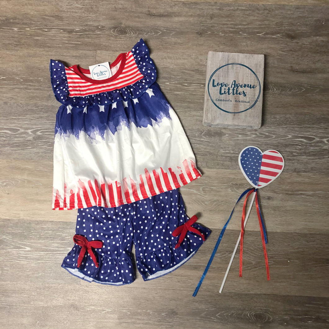 Stars and Stripes Girls' Top