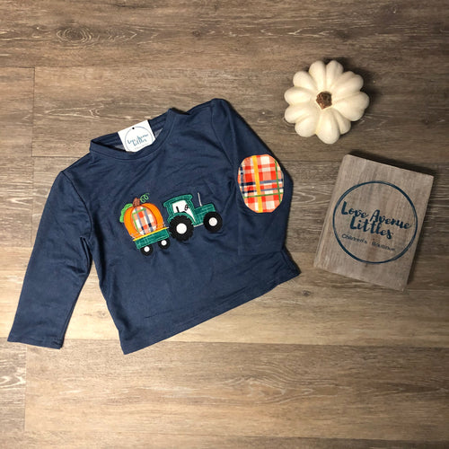 Navy Tractor Shirt
