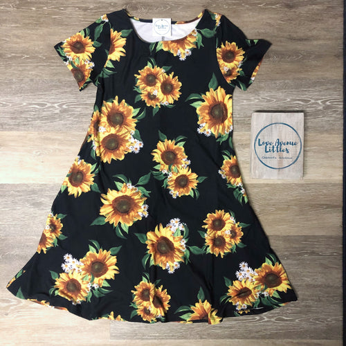 Sunflower Swing Dress
