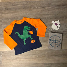 Load image into Gallery viewer, Dino Pumpkin Raglan