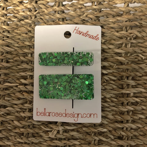 Bella Rose Clip - Chunky Green