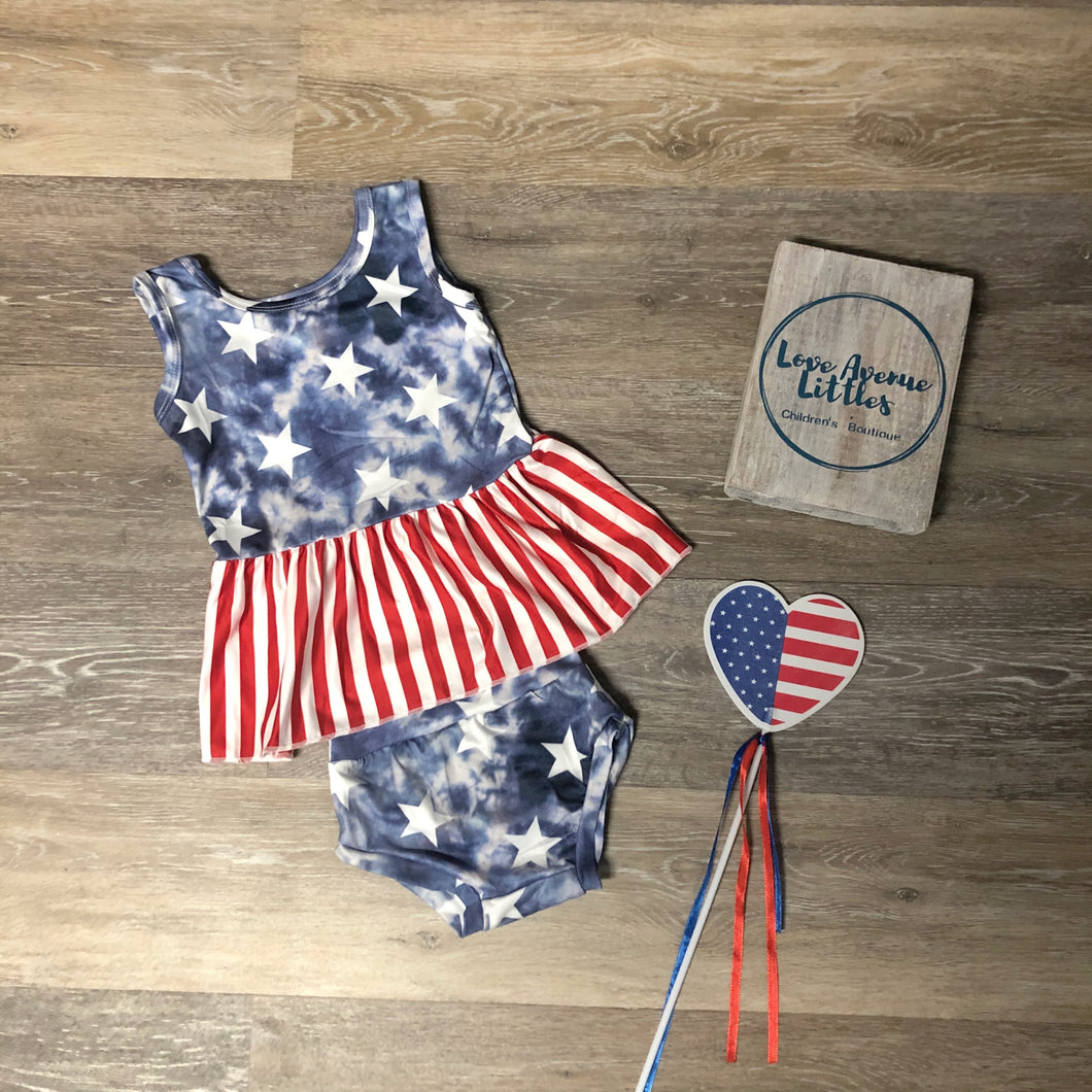Stars and Stripes Peplum Set