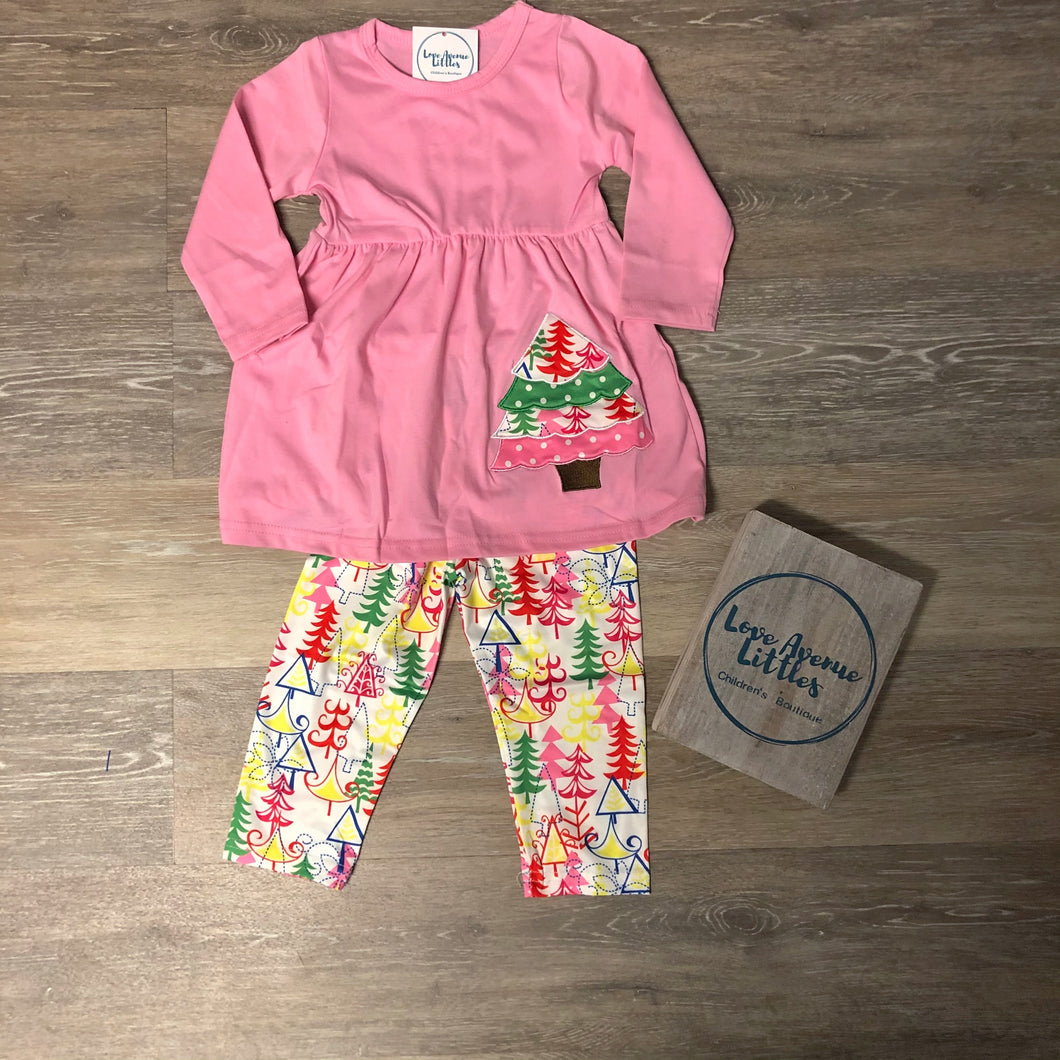 Pink Christmas Tree Set