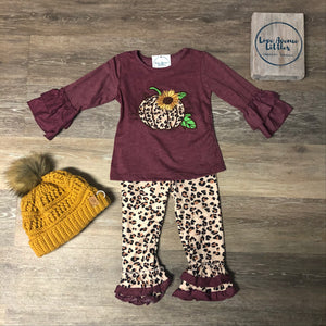 Leopard Pumpkin Set