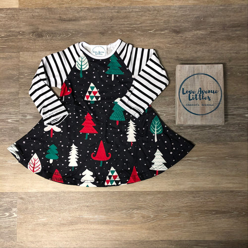 Tree Raglan Swing Dress