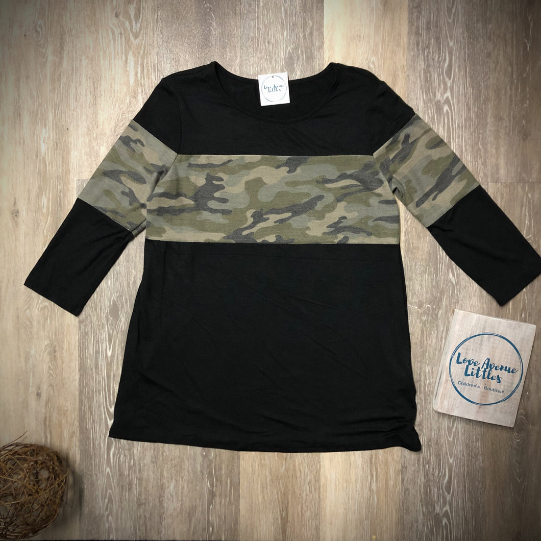 Mommy Camo Top