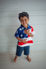 Load image into Gallery viewer, Stars and Stripes Button Down