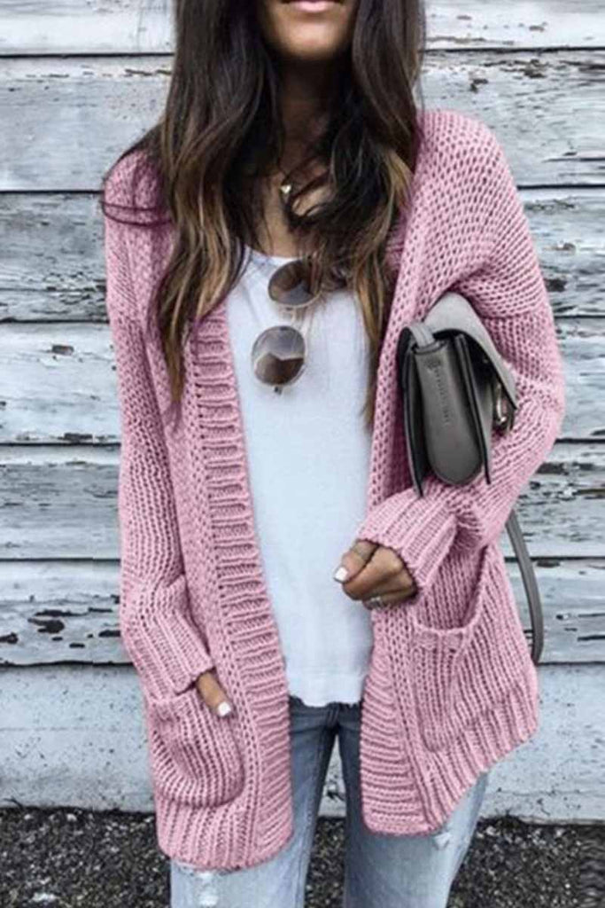 Chicindress Solid Loose Sleeve Sweater Cardigan