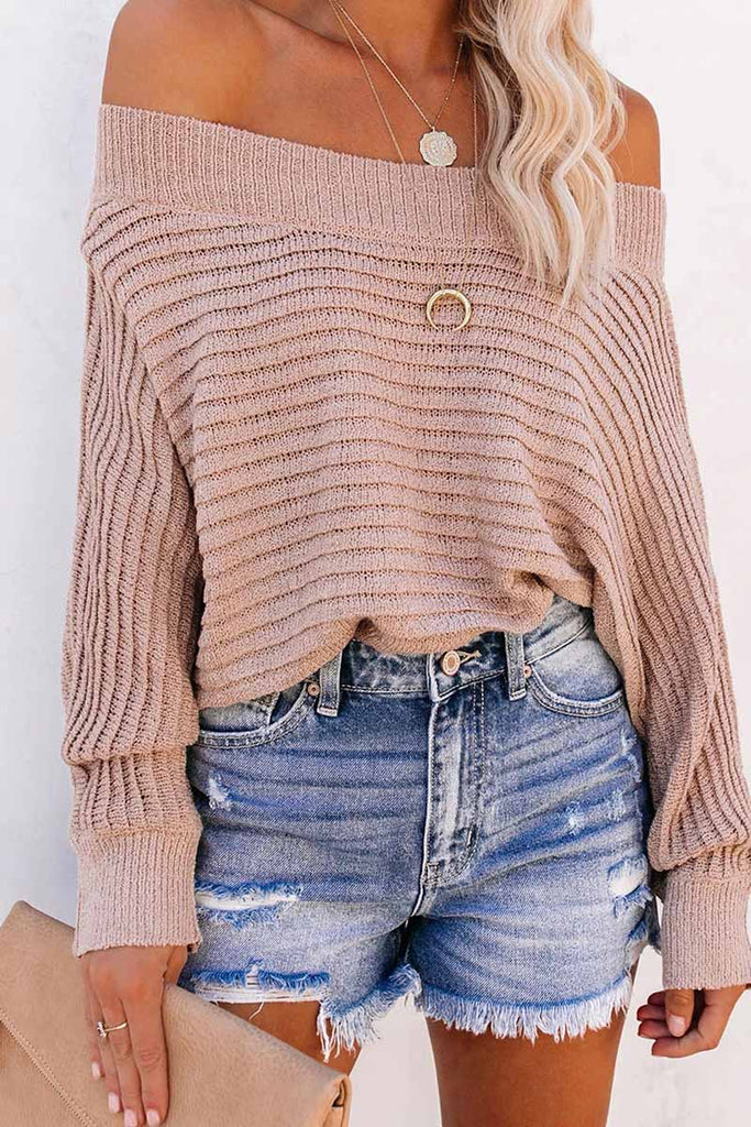 Chicindress Sexy Striped Off-shoulder Sweater