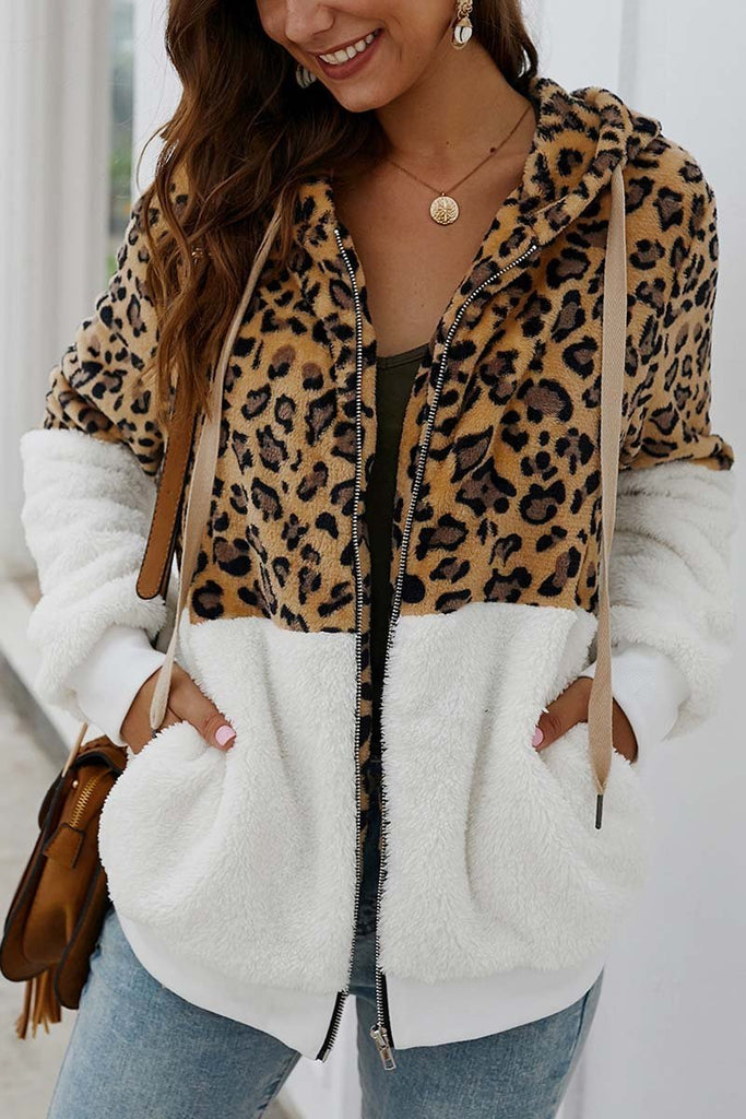 Chicindress Leopard Stitching Coat