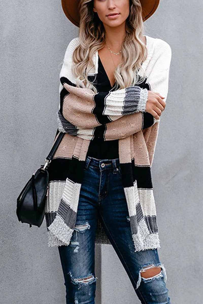 Chicindress Autumn And Winter Contrast Sweater Coat