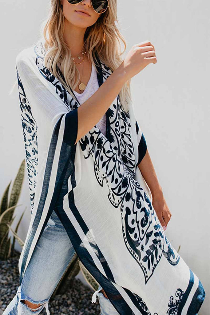 Chicindress Casual Loose Printed Long Blouse
