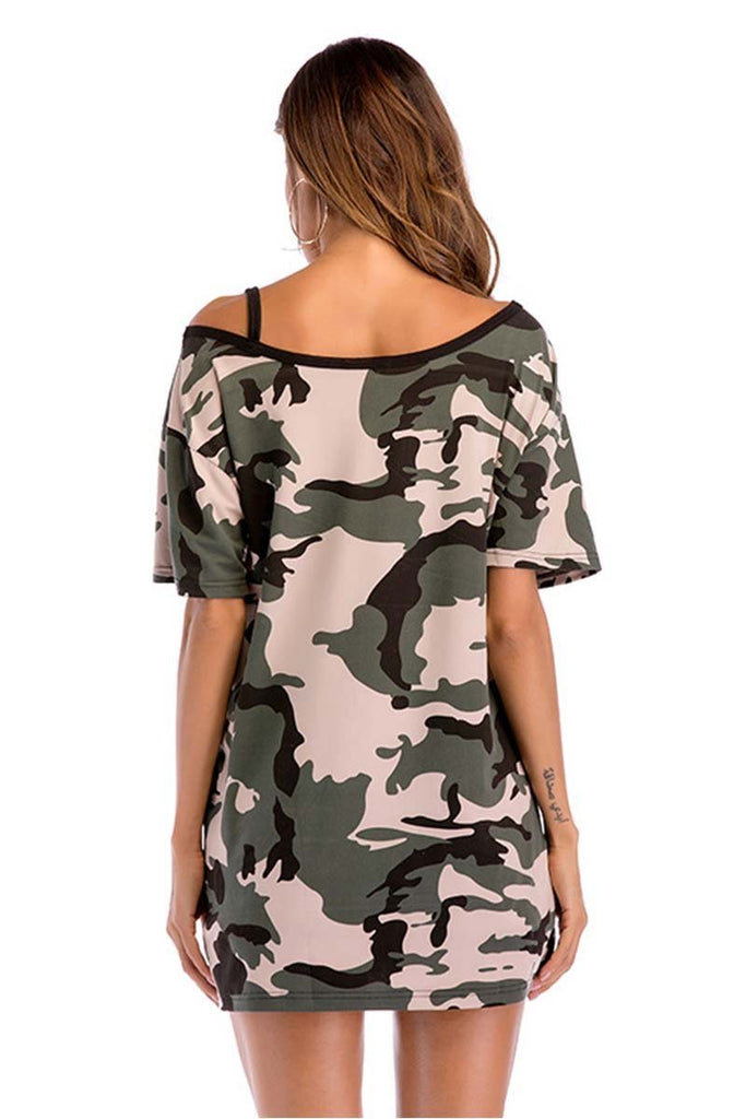 Chicindress Camouflage Strapless T-shirt