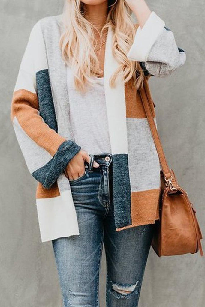 Chicindress Cardigan Plaid Sweater Coat