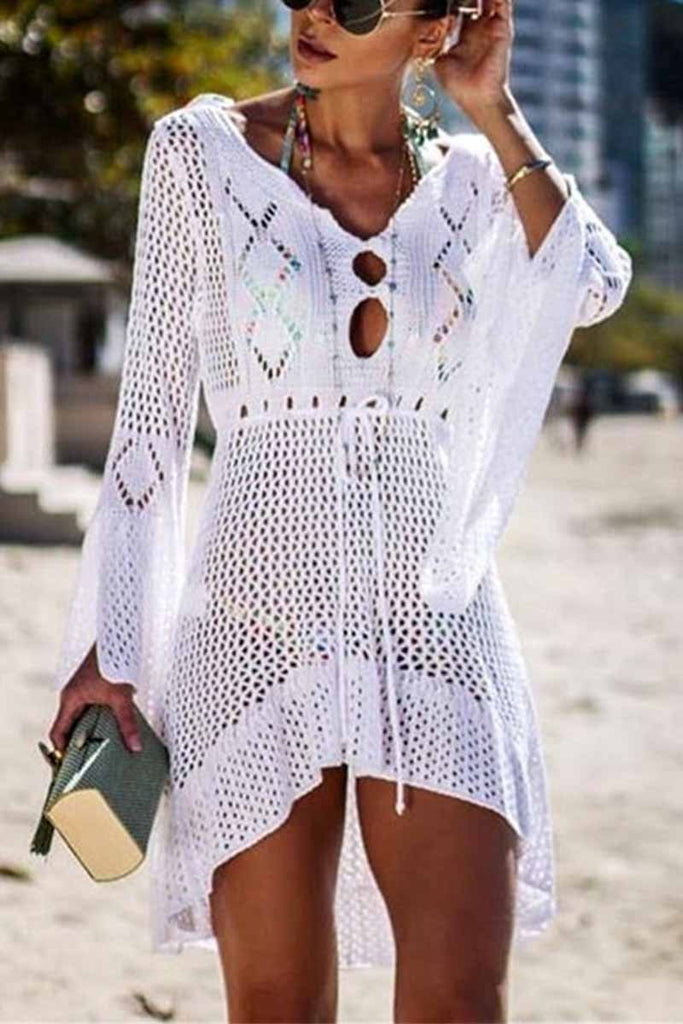 Chicindress Hollow Knitted Beach Cover-up(4 colors)