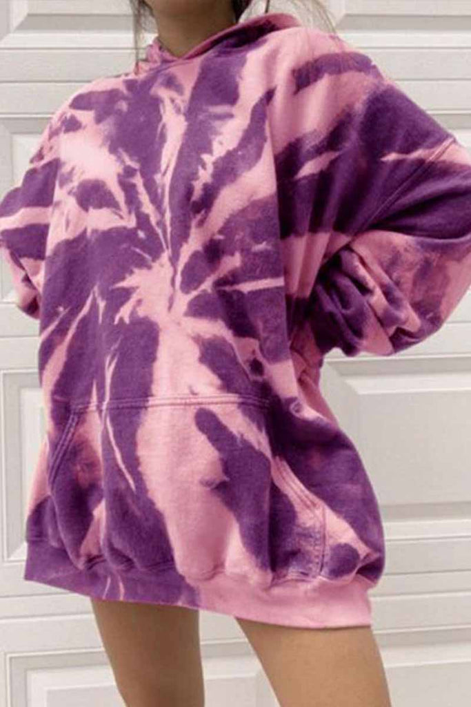 Chicindress Winter Tie-dye Padded Hoodie
