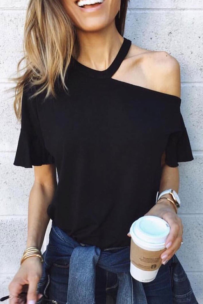 Chicindress Casual Dew Shoulder T-shirt