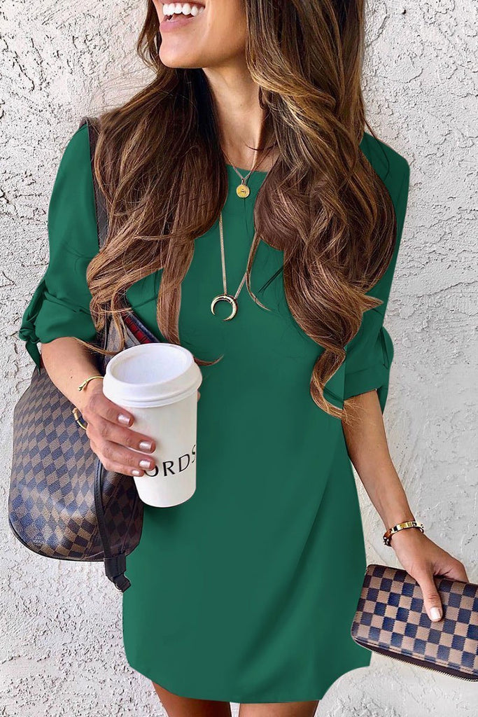 Chicindress Half Sleeve Early Autumn Shirt Dress(4 Colors)