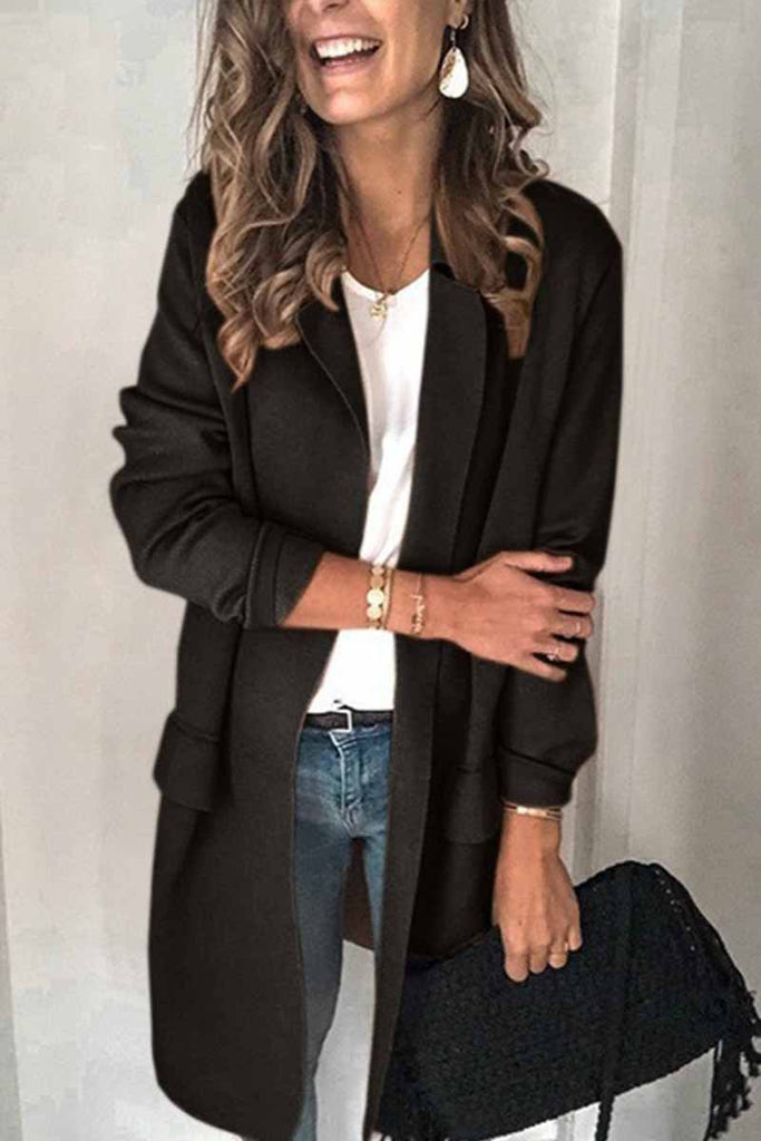 Chicindress Solid Color Long Sleeve blazer