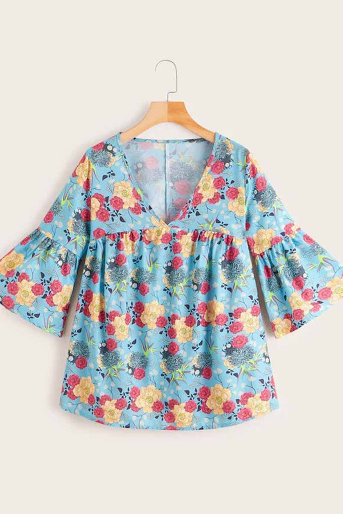 Chicindress Floral Loose Blouse