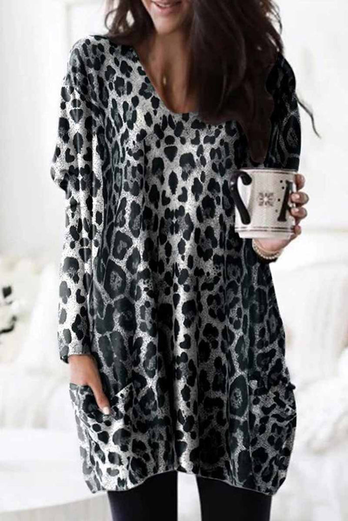 Chicindress Leopard Mini dress With Pockets