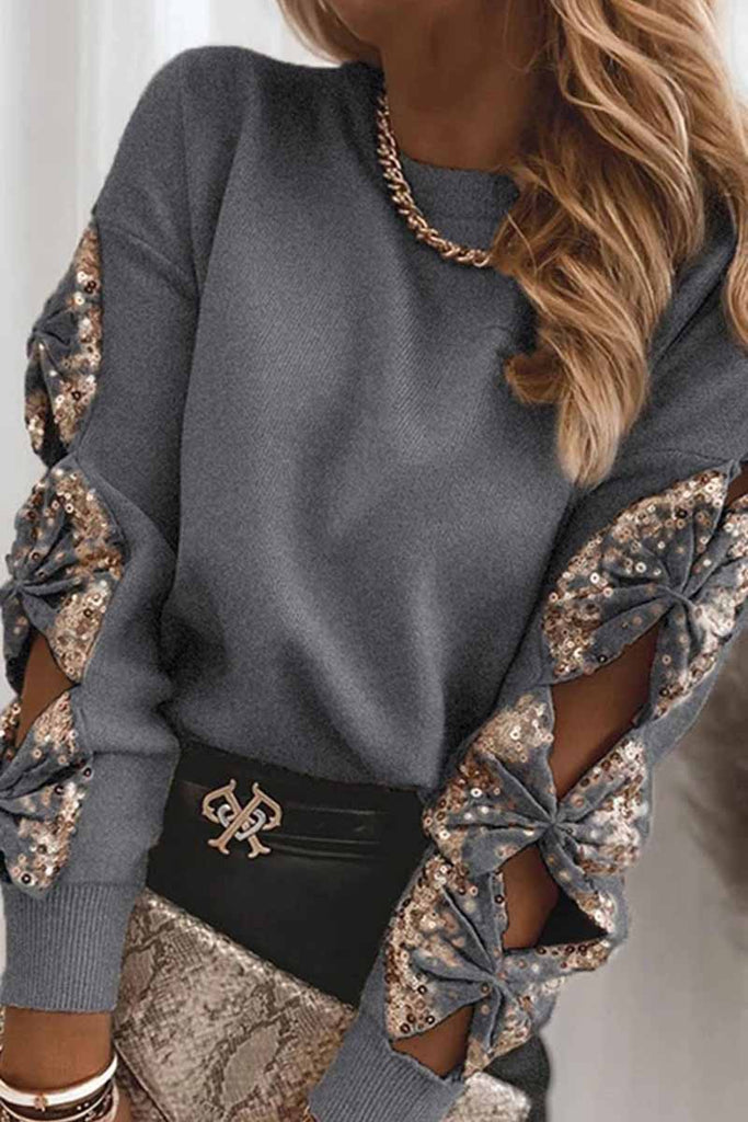 Chicindress Fashion sequin stitching knit Tops