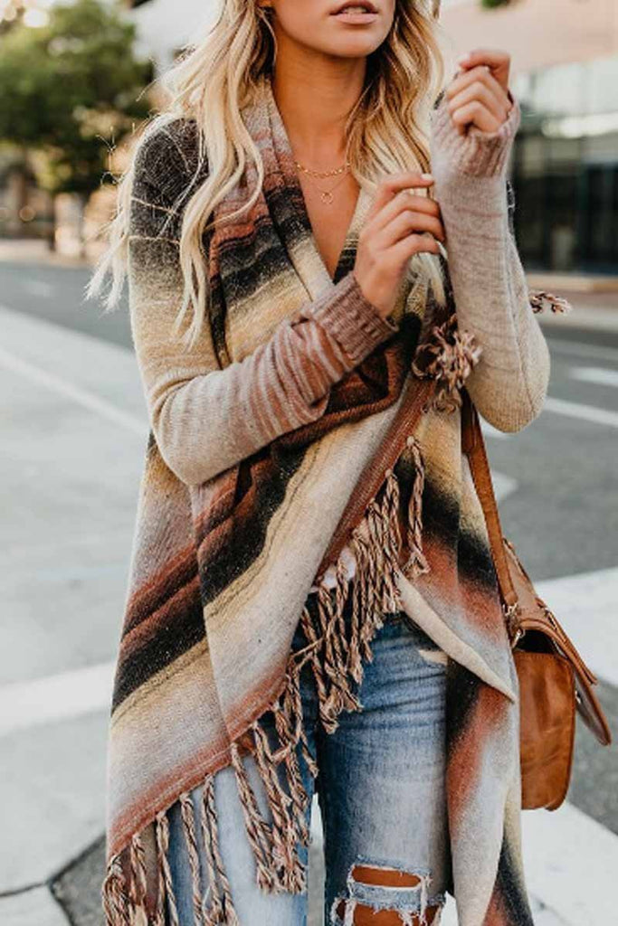 Chicindress Tassel Cardigan Sweater Tops
