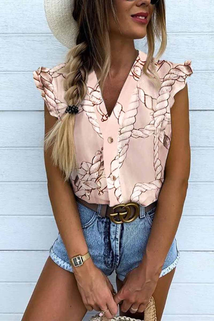 Chicindress V-neck Ruffled Cute Shirt
