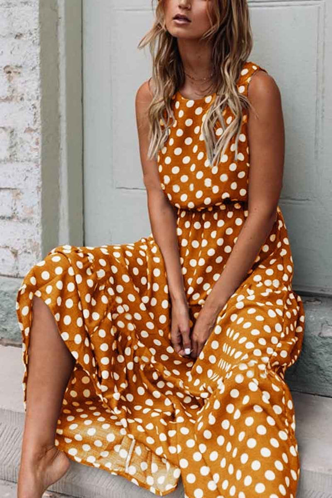 Chicindress Polka Dot Round Neck Dress£¨5 colors£©