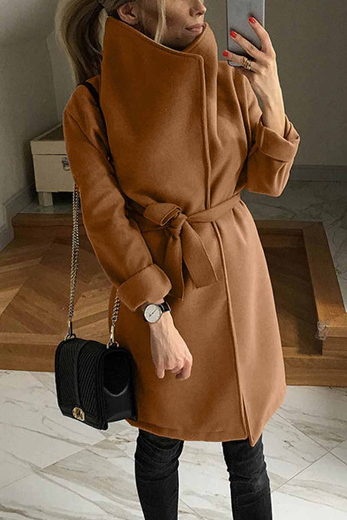 Chicindress Solid Color Stand-collar Warm Waist Coat