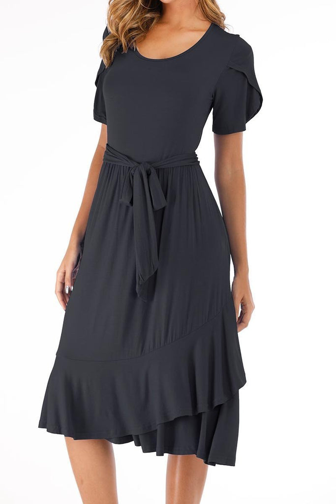 Chicindress Casual Midi Dress with Belt