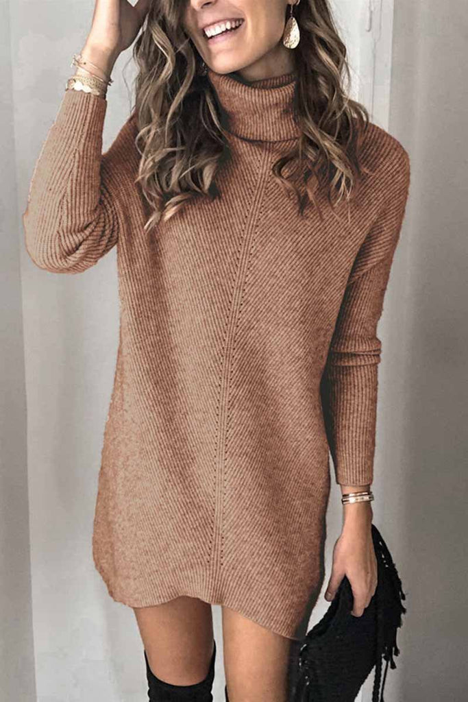 Chicindress Casual Turtleneck Mini Dress