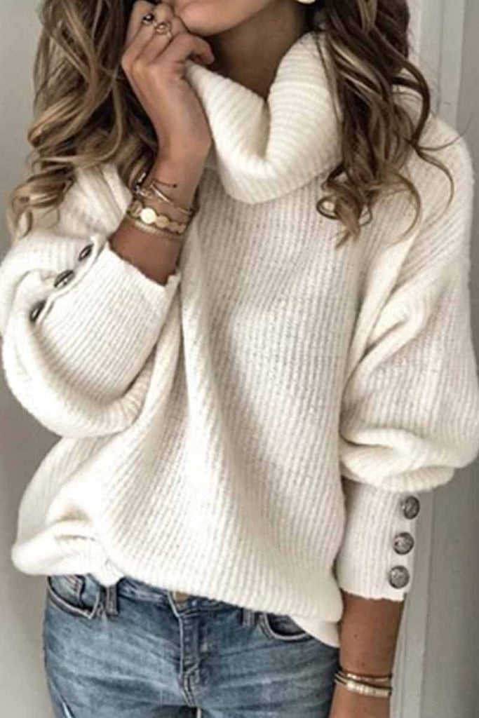 Chicindress Turtleneck Knitted Sweater(4 Colors)